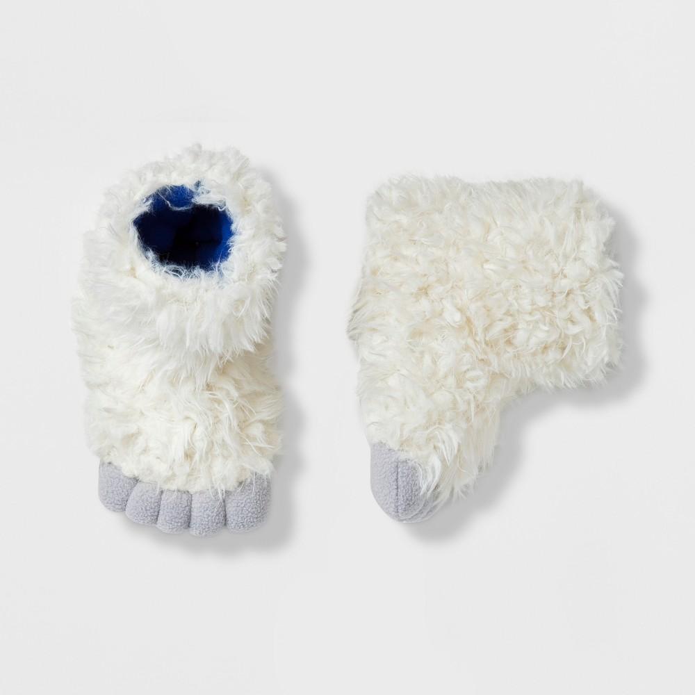 Baby Girls' Furry Yeti Slipper - Cat & Jack White 12-24M, Beige