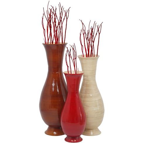 Uniquewise Tall Modern Handmade Bamboo Floor Vase - image 1 of 4