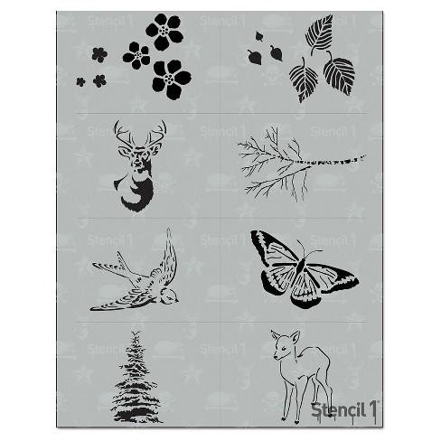 "Stencil1 Nature Multipack 8ct - Stencil 8.5"" x 11"" - image 1 of 3"