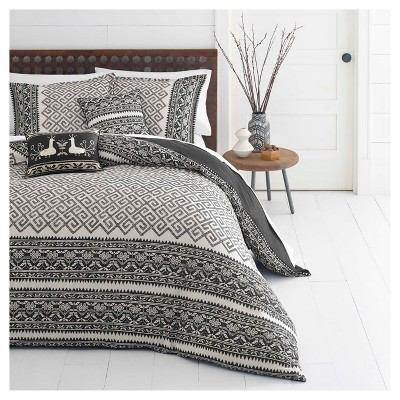 Beige Greca Borders Duvet Cover Set (King)- Azalea Skye