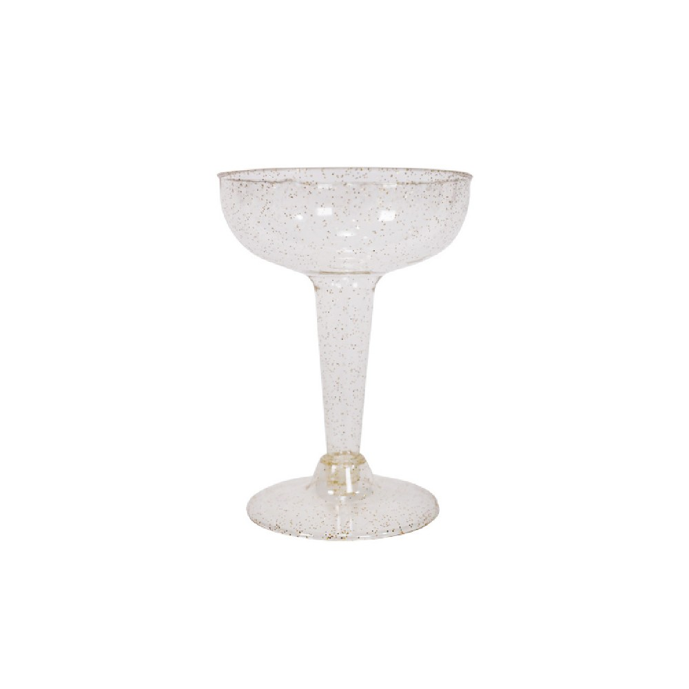 Image of 20ct Coupe Champagne Gold Glitter - Spritz