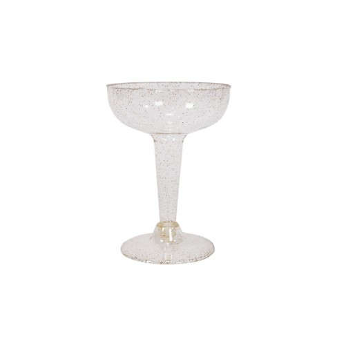 20ct Coupe Champagne Gold Glitter - Spritz™ - image 1 of 2