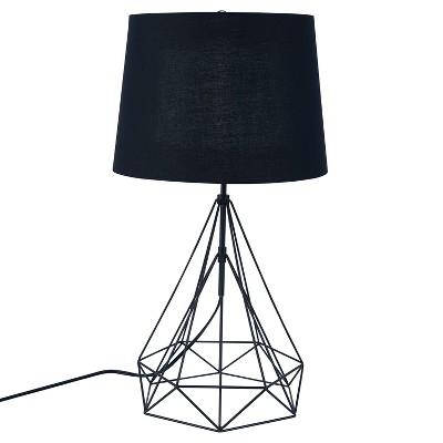 "25"" Jonbla Metal Table Lamp Black (Includes Energy Efficient Light Bulb)- Aiden Lane"