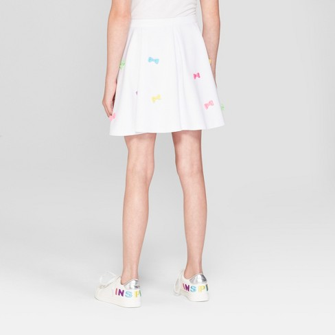 a4822cb37c Girls  Nickelodeon JoJo s Closet Skater Skirt - White   Target