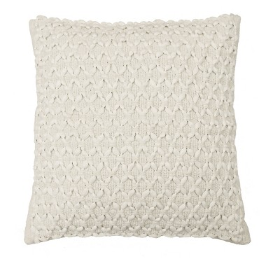 Laurel Woven Embellishment Throw Pillow Cream - Beautyrest
