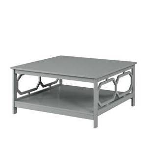 """36"""" Omega Square Coffee Table Gray - Breighton Home"""
