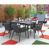 7pc Nette Dining Table Set with Eiland Table Carbon/Pewter/Ninja - Oxford Garden - image 3 of 3