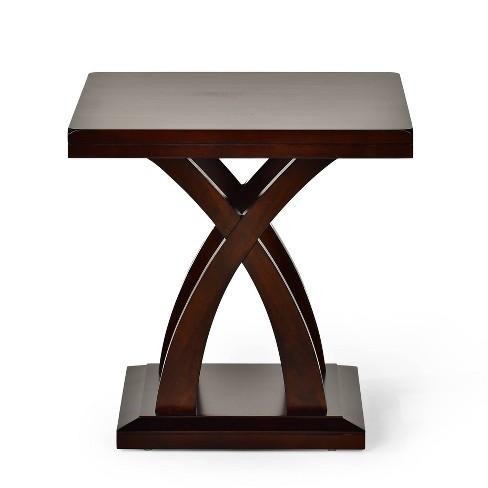 Surprising Jocelyn End Table Espresso Cherry Steve Silver Download Free Architecture Designs Crovemadebymaigaardcom