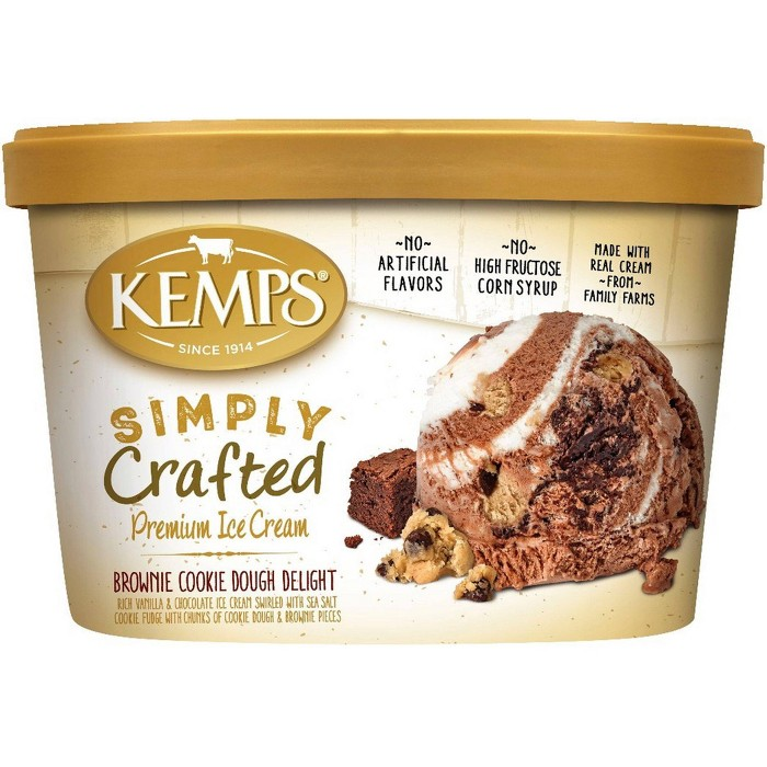 Kemps Simply Crafted Brownie Cookie Dough Delight Ice Cream - 48oz - image 1 of 1