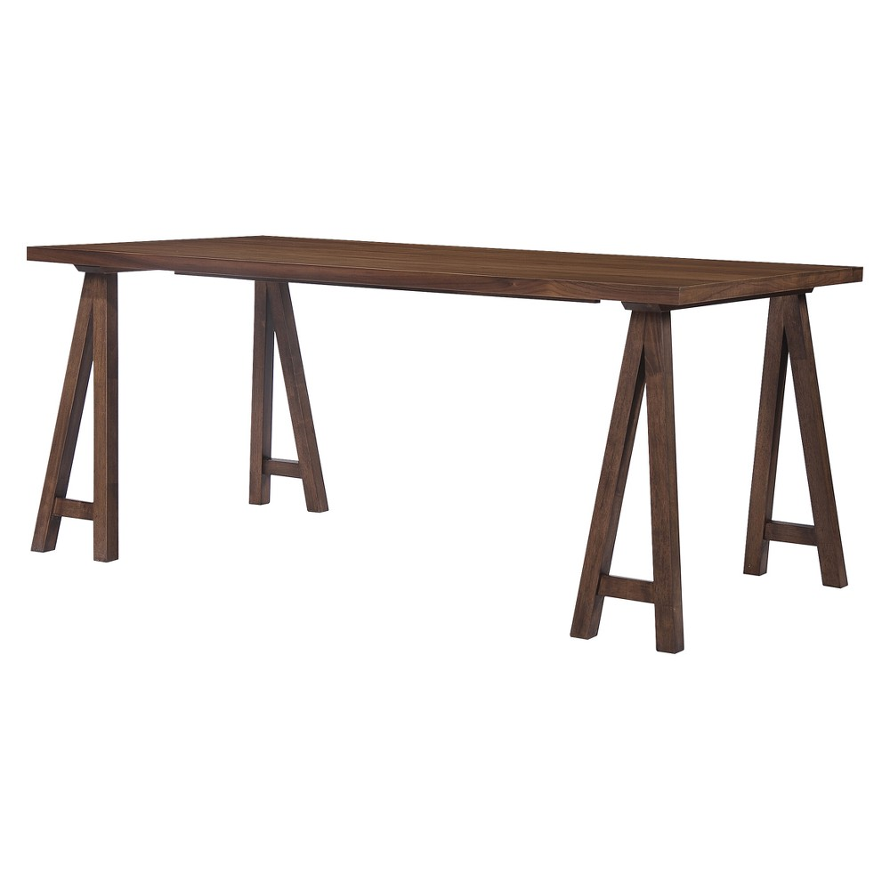 Sabine 71 Rectangular Farmhouse Wood Dining Table - Walnut (Brown) - Christopher Knight Home
