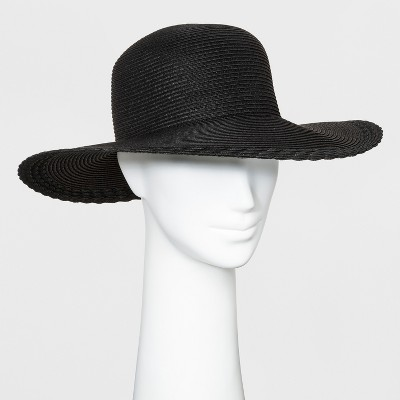 2ad5c74ab36 Women s Scallop Edge Floppy Hat - A New Day™ Black