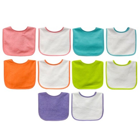 Neat Solutions 10pk Water Resistant Bib Set - Assorted Bright Pinks - image 1 of 2