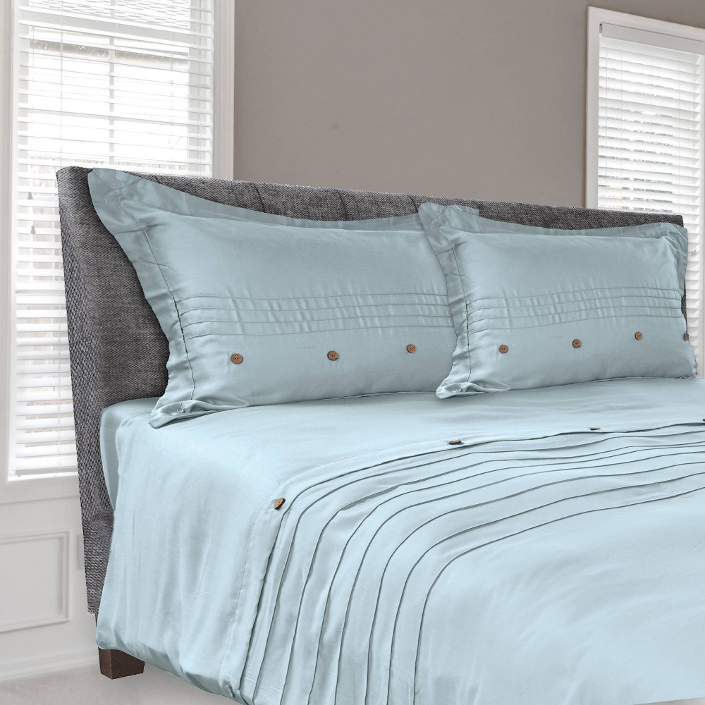 Image of Tempur-Pedic Cool Luxury Full/Queen Duvet Cover Slate Blue