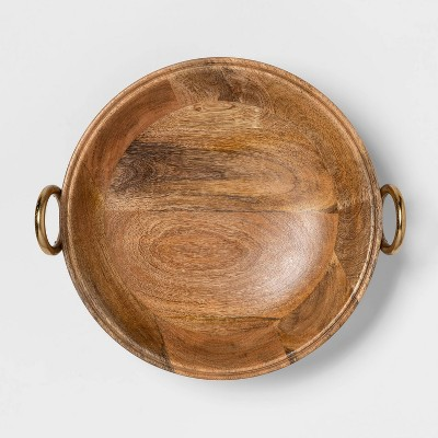 Cravings by Chrissy Teigen 13  Round Bowl with Aluminum Gold Handle