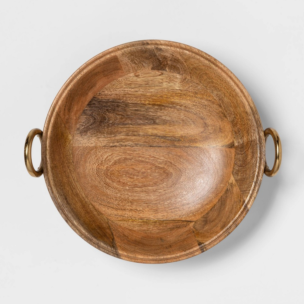 "Image of ""Cravings by Chrissy Teigen 13"""" Round Bowl with Aluminum Gold Handle"""