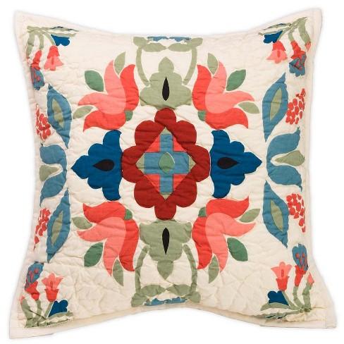 Ansley Folk Art Handmade Throw Pillow Plow Hearth Target