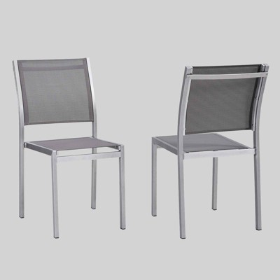 Shore 2ct Outdoor Patio Aluminum Side Chair - Modway