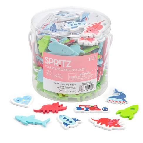 2oz Foam Sticker Bucket Rockets/ Dinosaurs - Spritz™ - image 1 of 1