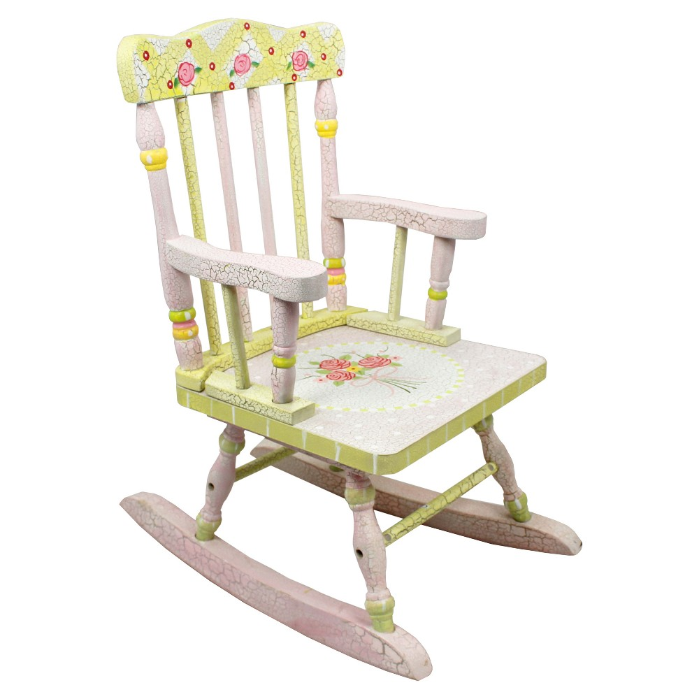 Image of Crackled Rose Rocking Chair - Multi - Colored - Fantasy Fields