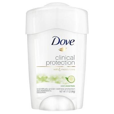 Dove Clinical Protection Cool Essentials Antiperspirant & Deodorant Stick - 1.7oz