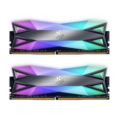 XPG SPECTRIX D60 RGB Desktop Memory: 32GB (2x16GB) DDR4 3600MHz CL16 Grey - 2pc