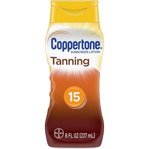 Coppertone Tanning Sunscreen Lotion - SPF 15 - 8oz - image 1 of 4
