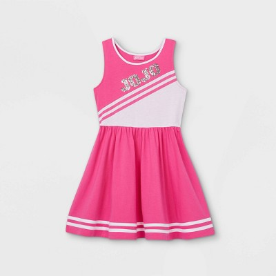 Girls' JoJo Siwa Cheer Dress with Sequins - Pink