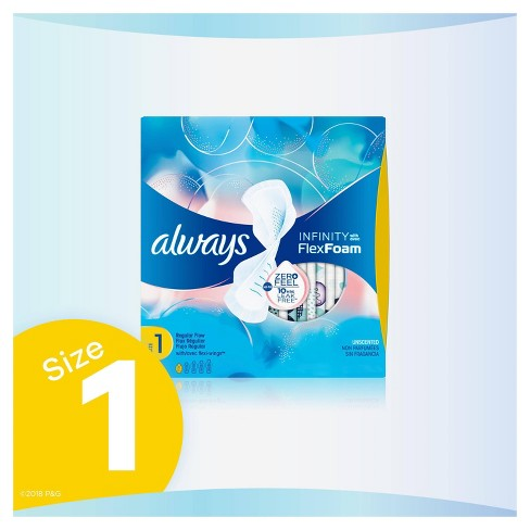 Always Infinity Pads - Regular Absorbency - Size 1