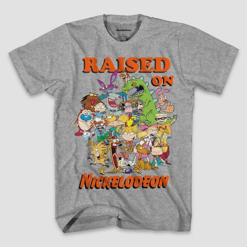 Men's Nickelodeon Short Sleeve Graphic T-Shirt - Heather Gray - image 1 of 1
