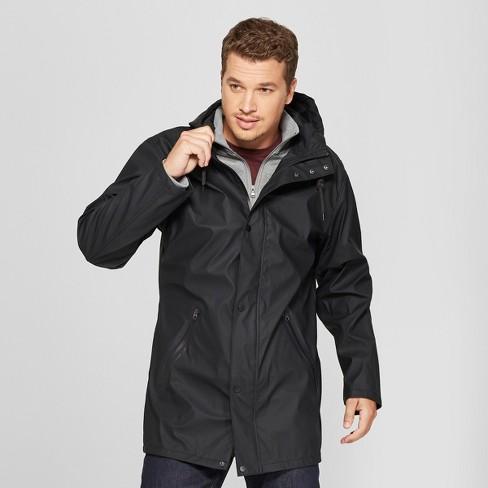 23ac78793 Men's Rubber Rain Jacket - Goodfellow & Co™ Black : Target