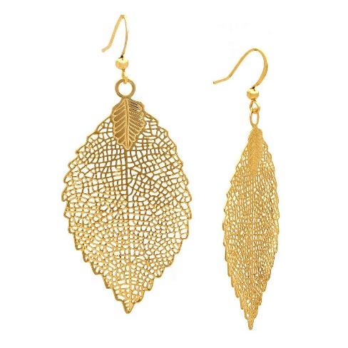 Leaf Drop Earring Gold