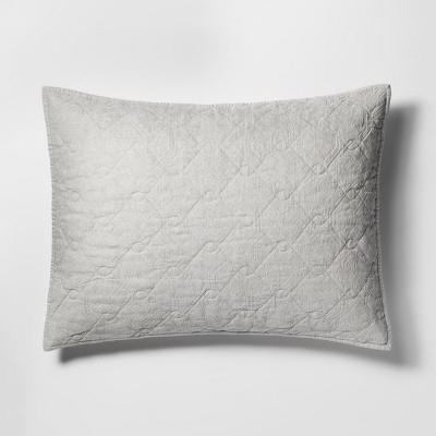 Grey Chenille Pillow Sham Cotton Standard Size - Threshold™