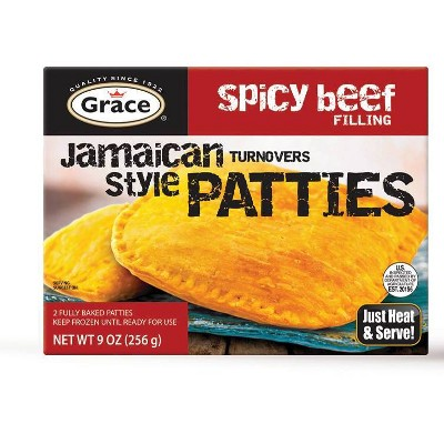Grace Frozen Jamaican Style Patties with Spicy Beef Filling - 9oz