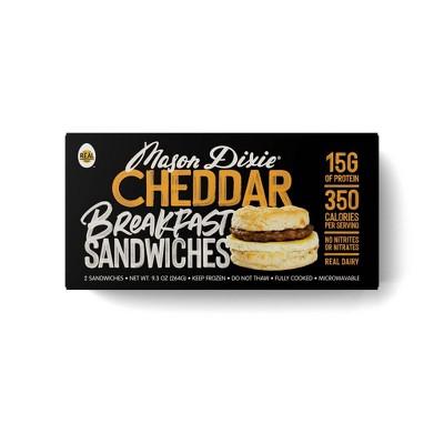 Mason Dixie Frozen Cheddar Biscuit Breakfast Sandwich - 9.3oz/2pk