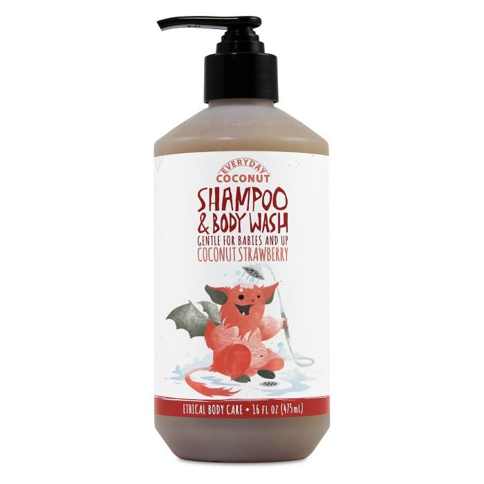 Alaffia Everyday Coconut Baby Shampoo & Body Wash, Coconut Strawberry - 16oz - image 1 of 1