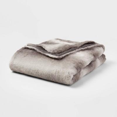 "55""x80"" Faux Fur Throw Blanket - Threshold™"