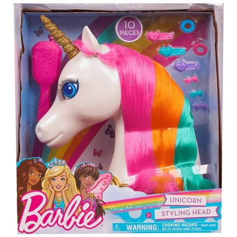 Barbie Dreamtopia Unicorn Styling Head 10pcs - image 1 of 3