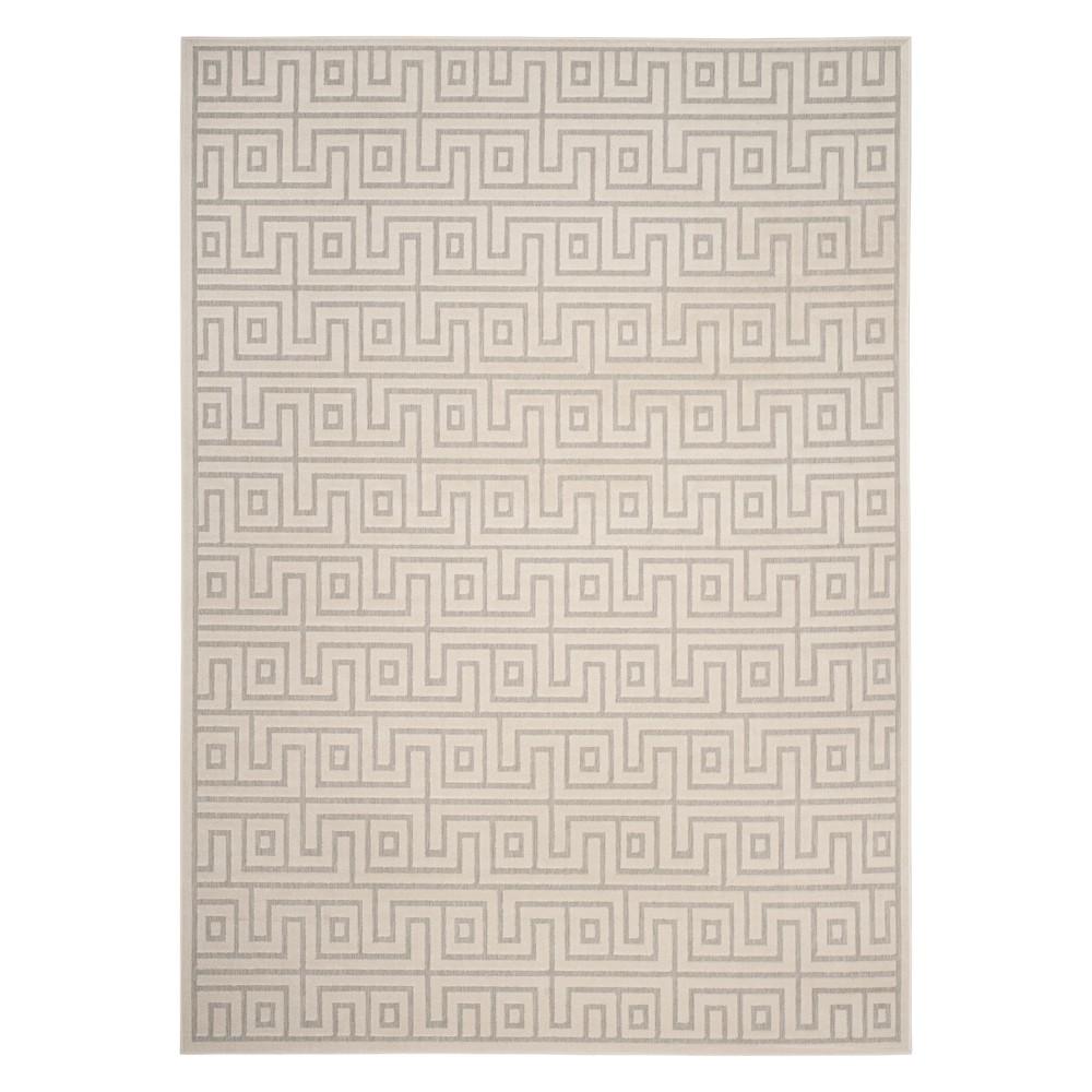 8' x 11'2 Outdoor Rug Gray/Cream - Safavieh, Gray Off-White