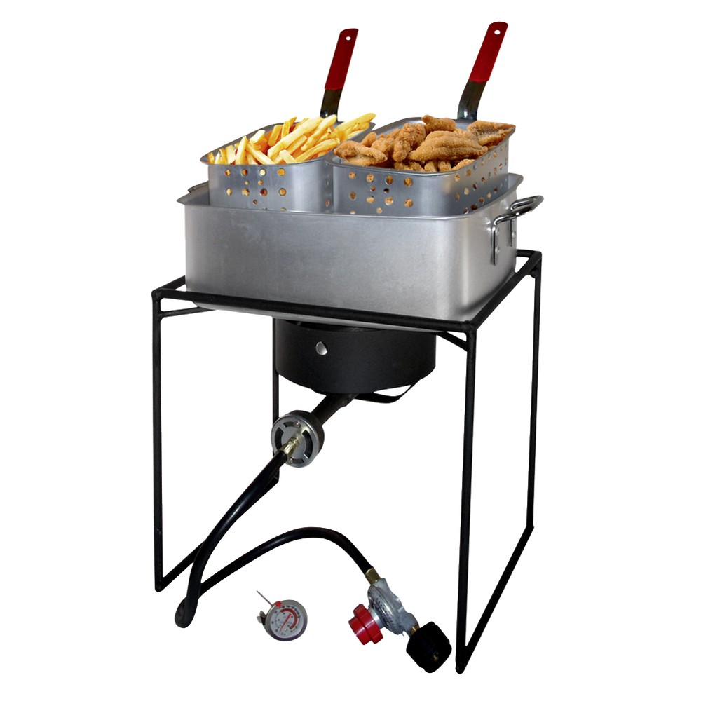 Outdoor Cooker and Fry Pan Set