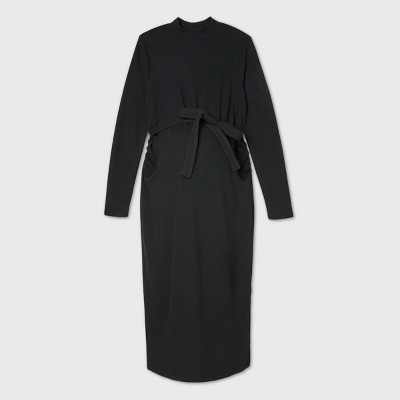 Long Sleeve Fitted Maternity Dress - Isabel Maternity by Ingrid & Isabel™ Black