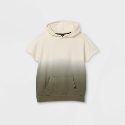 Boys' French Terry Short Sleeve Hoodie Sweatshirt - art class™ Green