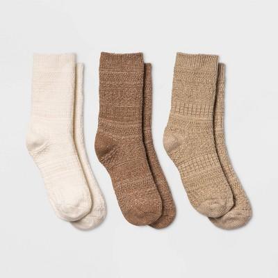 Women's 3pk Textured Crew Socks - Universal Thread™ 4-10