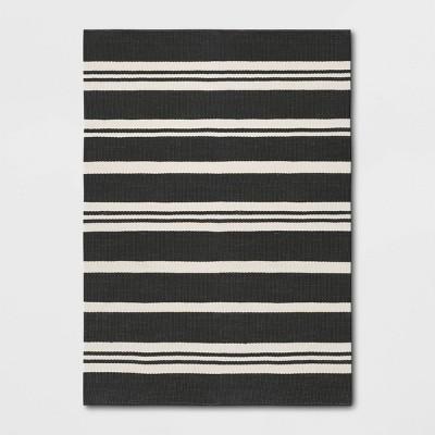 Outdoor Rug Black Stripe - Threshold™ Designed with Studio McGee