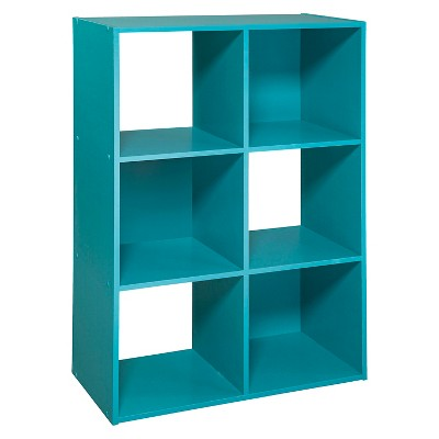 11  6-Cube Organizer Shelf Turquoise - Room Essentials™