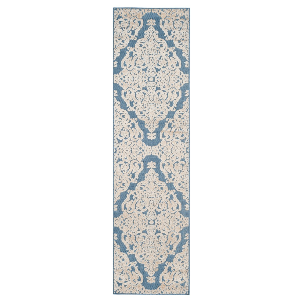 Blue Lace Loomed Runner 2'3X8' - Safavieh