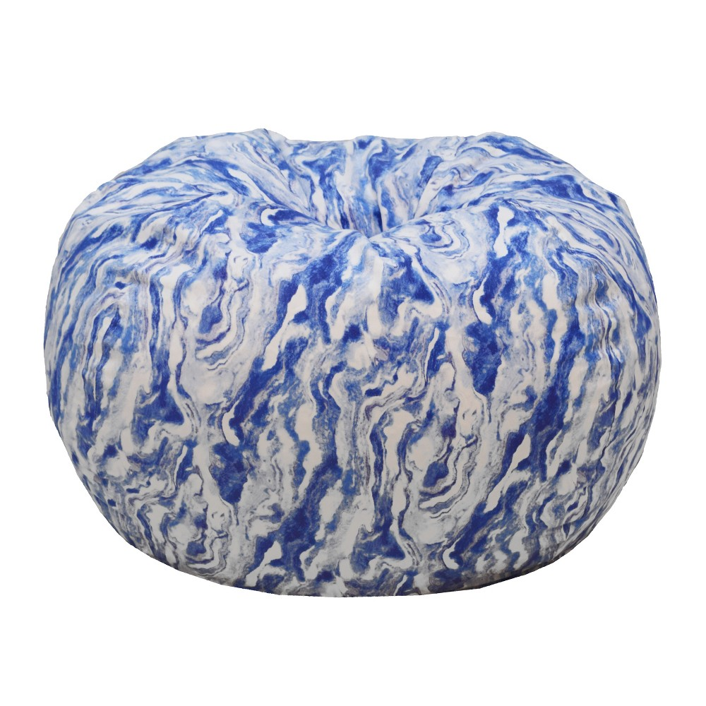 Enjoyable Microsuede Bean Bag Blue Marble Acessentials White Pdpeps Interior Chair Design Pdpepsorg