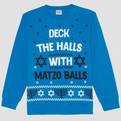 Men's Matzo Balls Graphic Sweatshirt - Turquoise - image 1 of 2