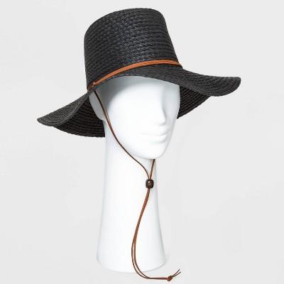 Women's Short Brim Straw Floppy Hat - Universal Thread™ Natural