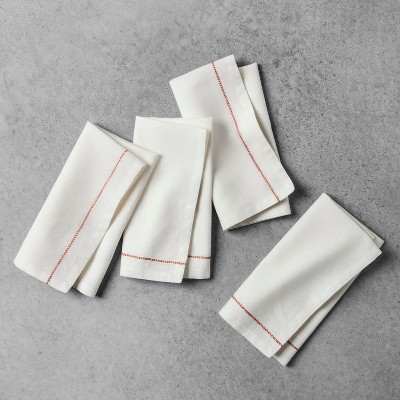 Embroidered Napkin 4pk - Coral - Hearth & Hand™ with Magnolia