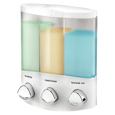 Better Living Products Euro Three Chamber Dispenser-White